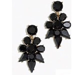 NEW J Crew Factory opaque statement earrings black